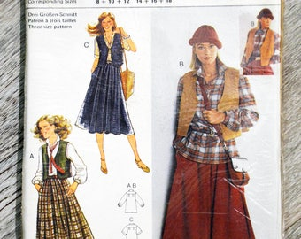Burda 9614 - set (Vintage) woman sewing pattern