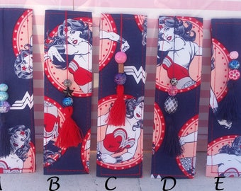 Wonder Woman Fabric Bookmarks