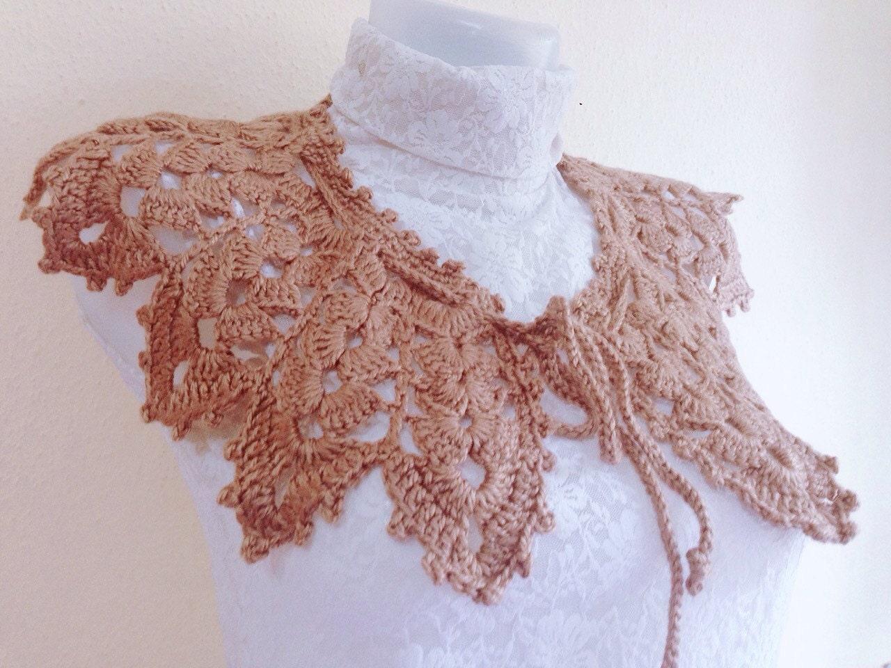 Pattern Crochet collar scarf Lace Collar Pattern Easy Collar