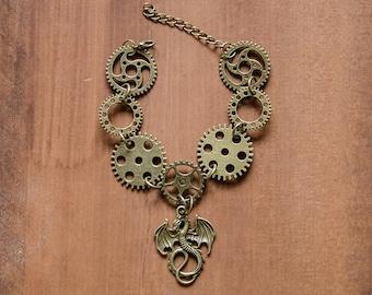 Steampunk Dragon Bracelet, Steampunk Bracelet, Steampunk Jewellery