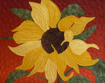 Sunflower quilt pattern - ON SALE