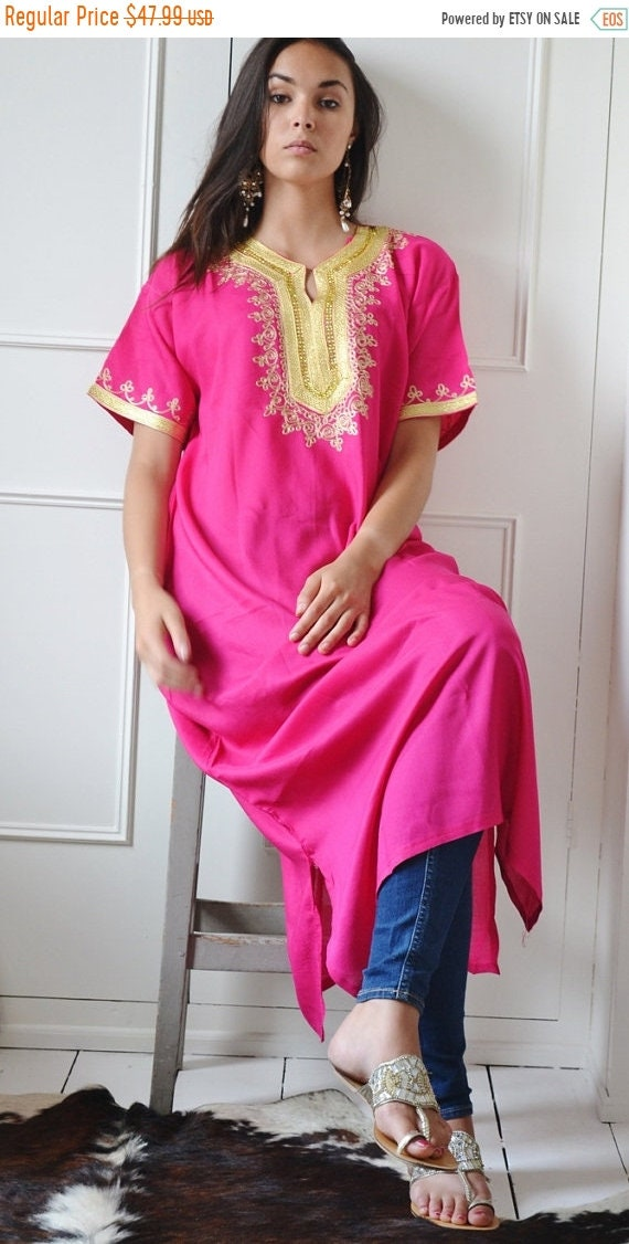 Kaftan Sale 20% Off/ Kaftan Moroccan Boho Pink Resort Caftan Fez-Kaftan,Caftan,beach coverup,loungewear,maxi dress, birthdays, honeymoon, ma
