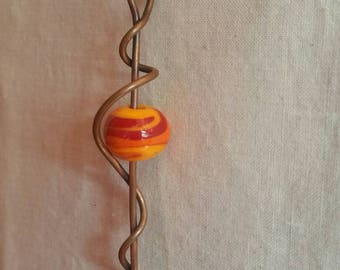Orange Lampwork Bead