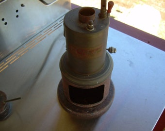 Antique Weeden toy steam engine with fuel pot