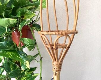 Vintage Bamboo Handled Basket