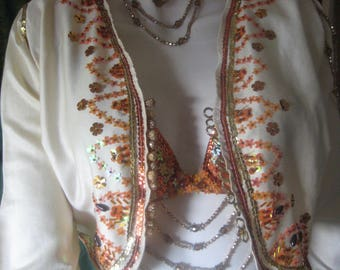 04-vest beige for Oriental or Andalusian dancing.