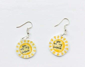 SALE: You Are My Sunshine Earrings