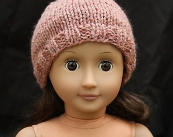 Hat and Headband Knitting Pattern for 18 inch Dolls