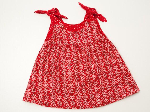 Baby pinafore dress sewing pattern, girls dress, tunic dress, baby ...