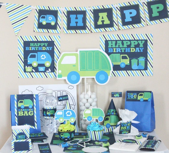 Garbage Truck Birthday Decorations Recycle Truck DIY