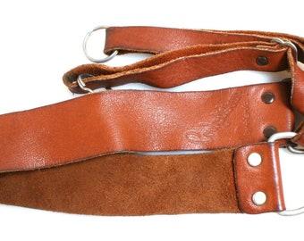 1960s Camera Strap//Neck Strap//Leather Strap//Vintage Strap