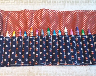 Customize your own Quilted Crayon Roll Gift Set