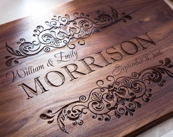 Personalized Cutting Board , Wedding Gift, Engraved Cutting Board, Custom Cutting Board, Housewarming Gift, Anniversary Gift, Home Decor