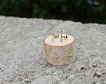 Thin Bar Studs // Gold Silver Geometric Earrings // Minimal Earrings // Everyday Earrings // Vertical Bar Earrings // Nickel Free Studs
