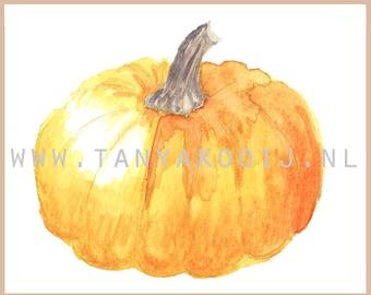Watercolor Pumpkin. Pumpkin clip art, thanksgiving pumpkin,thanksgiving menu, Thanksgiving pumpkin,