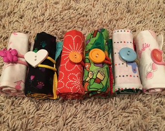 Crayon Rolls (8-pk) with Button Closure / Personalize It - READY TO SHIP