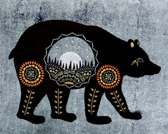 Ursa Major - Cut Paper Art Print