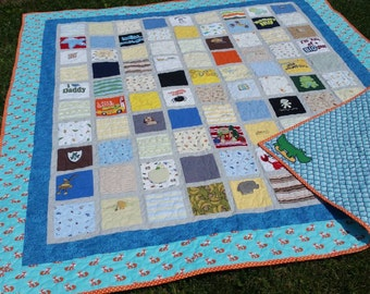 Custom Baby Onesie Clothing Quilt