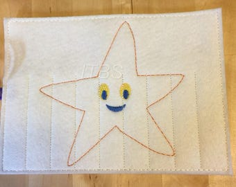 Star fish crayon buddy 2 sizes 4x4 and 5x7