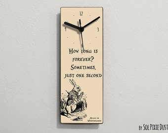 Alice in Wonderland - How long is forever ? .. - Wall Clock