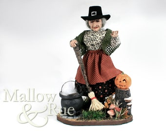 OOAK Witch Figure | Halloween Ornament | Witch Doll