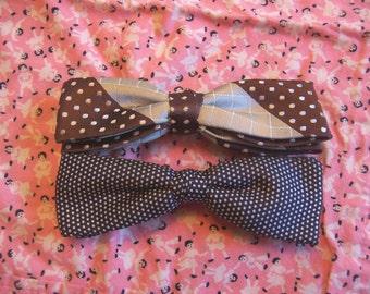 vintage brown tones bow ties