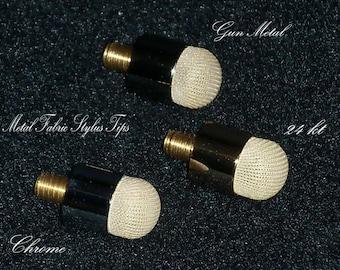 Gun Metal finish Mesh Fabric stylus replacement tip
