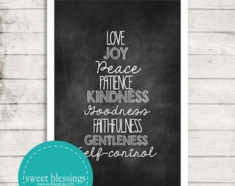 Fruit of the Spirit Print Instant Download
