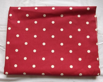NEW Clarke & Clarke Dotty Wine 100%  Cotton Fabric 1.37 x 1.06 m  Suitable for Curtains, Upholstery,Crafts