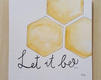 4x4 Honeycomb Watercolor