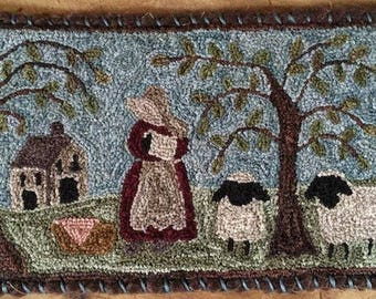 """Pattern: Punch Needle Embroidery Pattern """" Simplicity""""  by Vintage Heart Rug Design (Yvonne Buus)"""