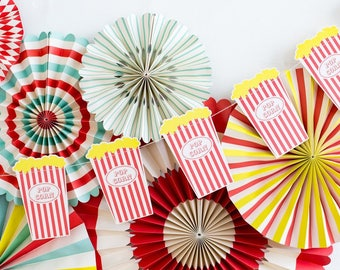 Popcorn Carnival Party Banner - Carnival Party banner - Carnival Party Decor - Circus Popcorn - Circus Birthday Banner The Greatest Showman