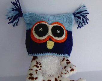 Two-Colored Owl Baby Hat