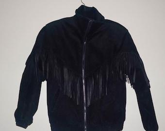 1980s Vintage Suede Fringe Jacket