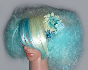 Tulia Turquoise Ombre Two Tone Lolita/Cosplay Wig With Bow Or Flower Embellishment