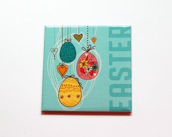 Easter Magnet, Easter Egg Magnet, Magnet, Fridge magnet, Easter Eggs, Easter magnet, Easter basket gift, Easter gift, blue, pink (7393)
