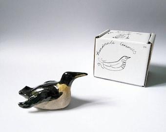 Emperor Penguin, penguin, penguin gift, desk companion,  penguin art, handmade gift, katealdridgeart, Ceramic sculpture, for penguin lovers