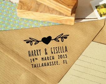 Custom LOVEly Together  Olive Wood Stamp