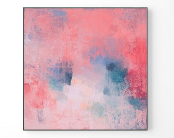 Extra Large Abstract Painting, modern large wall art, pink print, print from original painting, pastel abstract art, pastel pink art