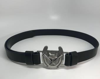 Fox Hunt Belt, Hunt Belt, Equestrian Belt, Horse Belt, Fox Hunting Belt, Adjustable Belt, Leather Belt, Black Leather Belt, Belt, Belts