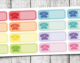 Telephone Label Planner Stickers