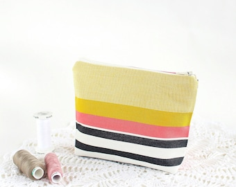 Makeup bag Pink Makeup case Cosmetic bag for women bag Cosmetic pouch bag Makeup storage bag Yellow gift teen girl Gift for girlfriend gift