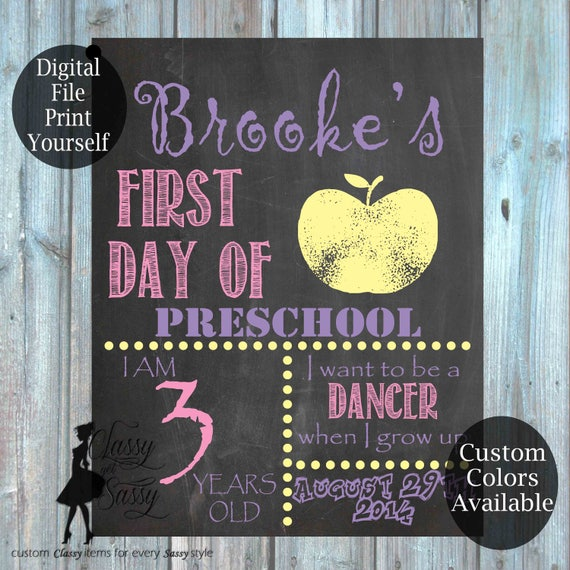 First Day Of School Chalkboard Sign 167