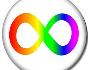 AUTISM-INFINITY-Pin-Back-Button-6-SIZES-Neurodiversity-Awareness-Rainbow