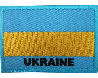 Ukraine Flag Patch Iron On / Sew On Badge Ukrainian Embroidered Embroidery Motif
