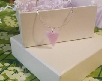 Rose triangle pendant