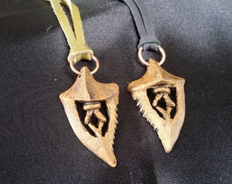 Mirrored Pair - Iron Bull's Dragon Tooth
