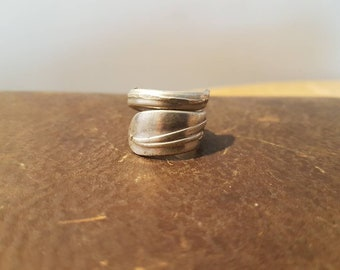 "Stainless Steel Wrapped Spoon Ring ""Rogers"""