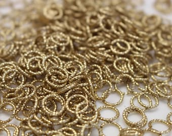 50pcs - 5mm Jump Ring Raw Brass Twisted Ring Findings - jumprings jewelry findings