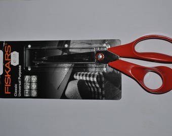 9850 special left-handed 21 cm Universal fiskars scissors / product ideal for sewing and cutting fabric, thin and thick materials